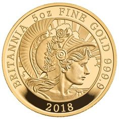 A Classic Design Struck in Five Ounces of Gold With a Limited Edition Presentation of only this is the rarest gold coin in the 2018 Britannia collection. Bullion Coins, Gold Bullion, Gold And Silver Coins, Silver Gifts, Us Coins, Rare Coins, Gold Prospecting, Money Sign, Gold Money