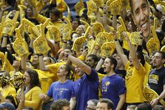 Three Kansas fans in a sea of West Virginia fans cheer for the Jayhawks ~ 1.28.13
