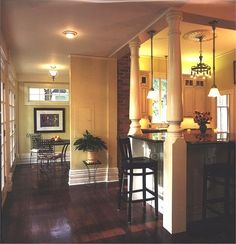 Kitchen Island With Columns kitchen island with pillars | columns, kitchens and house