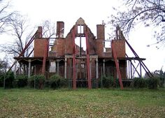 Bricks and mortar can not stop fire and the decay of this abandoned mansion in Virginia.