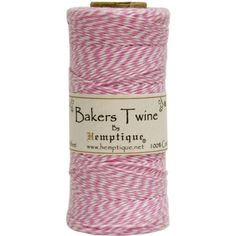 #diy High quality Baker's #twine is 4 ply 2 color twine made with 100% cotton which is biodegradable. #Perfect for a variety of crafts including custom card makin...
