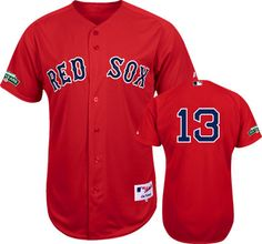 boston red sox carl crawford 13 red 100th year anniversary patch authentic jersey sale
