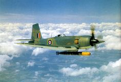 The Blackburn Firebrand was a single-engine fighter aircraft designed to Air Ministry Specification by Blackburn Aircraft. It was built around the Napier Sabre III engine as a single-seat fleet fighter for the Royal Navy. Ww2 Aircraft, Fighter Aircraft, Military Aircraft, Fighter Jets, Fixed Wing Aircraft, Aircraft Painting, Ww2 Planes, Aircraft Design, Royal Air Force
