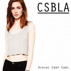 Csblas's Crop Cami In Ultra Soft Lux Cotton In Heather Grey Made In Italy. #lux #italy #madeinitaly @shopbop By Shopcsbla