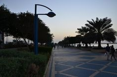 Jogging on the Corniche, Abu Dhabi