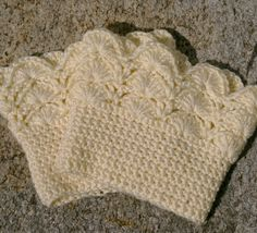 Boot Cuffs in Cream Crochet Boot Toppers.