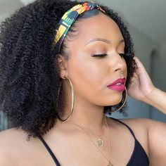 GAMAY  Clip in Pony Tail African American Hair Extension(GP10) Kinky Curly Hair, Curly Hair Styles, Natural Hair Styles, Headband Wigs, Headband Hairstyles, Puff Ponytail, Ponytail Extension, Brown To Blonde, African American Hairstyles