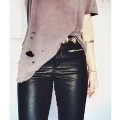 Give me a holy shirt and leather pants and I am good to go, love it!