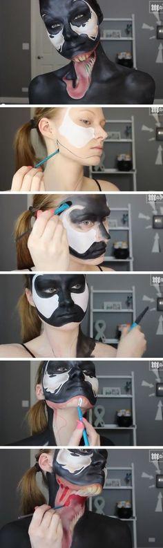 Spiderman  Venom Makeup Tutorial