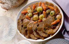 Grandma Ingrid made this traditional German dish every year for Christmas Eve. Sauerbraten and Vegetables