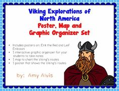We started our Explorers unit last week. We start off with the vikings that explored North America and talk about Erick the Red and his son. Social Studies Activities, History Activities, Teaching Social Studies, Interactive Activities, Hands On Activities, Interactive Notebooks, Middle Ages History, Study History, Vikings Ks2