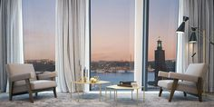 Continental apartments, penthouse in Stockholm Find Furniture, Luxury Furniture, Luxury Interior Design, Interior Architecture, Luxury Apartments, Luxury Homes, Stockholm Apartment, Dream House Interior, Luxurious Bedrooms