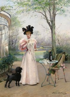 Луиза Аббема (Louise Abbema), 1858-1927. Франция. Преданный компаньон