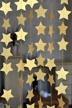 gold star garlands http://www.aliexpress.com/store/product/4m-Five-pointed-Stars-Shaped-Garlands-Festival-Birthday-Party-Decoration-Ceiling-Background-Celebrate-Paper-Supplies-for/1905733_32540374749.html