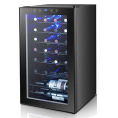 Smad 28 Chai Nhiệt Rượu Vang Tủ Lạnh Cooler Máy Nén Freestanding Tủ Lạnh Rượu Vang Cellar/Làm Lạnh Cho Home Bar-Đen