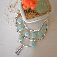 FREE SHIPPING Chunky Turquoise Necklace/  by OwnStudiobyEfrat