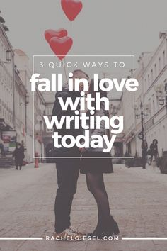 You love writing, but how often do you show it? Often, we just get so busy, and then you and your writing life hit a rough patch.But you can turn that around and strengthen your love simply by choosing to invest the time. You're the only one that can strengthen your relationship with writing. It starts by taking small, consistent actions each day. Here's three ways you can get started right now, today. These aren't new ideas you've never heard before. But they are tested and true ideas…