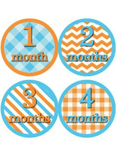 Monthly Onesie Stickers Baby Shower or Baby Gift by TessCloset, $8.50