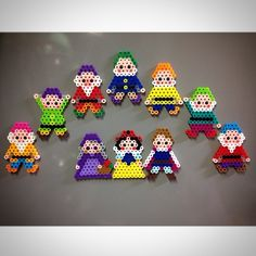 Snow White and the Seven Dwarfs perler beads by ringo_0122