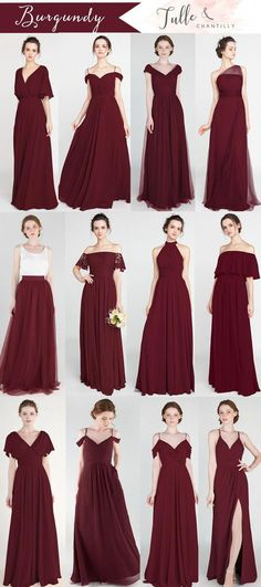 mix and match bridesmaid dresses 2019 in blush, dusty rose,canyon rose, and burgundy wedding bridesmaids Rustic Bridesmaid Dresses, Wedding Bridesmaids, Wedding Dresses, Bridesmaid Dress Styles, Burgundy Wedding Colors, Burgundy Dress, Burgundy Color, Marie, Glamour