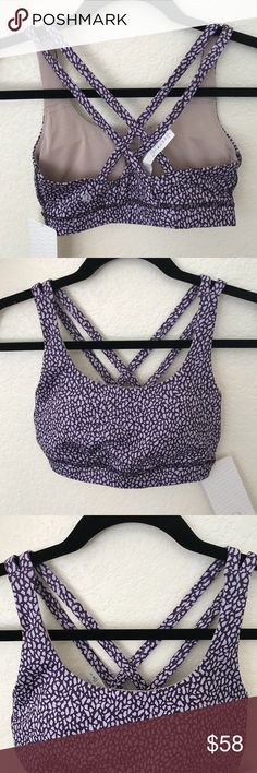 NWT MOSAIC LULULEMON PURPLE ENERGY BRA - - Size 6 Brand: Lululemon Athletica energy bra with pads            Condition: New with tag || size 6   || MISL mosaic   📌NO  TRADES  🛑NO LOWBALL OFFERS  ⛔️NO RUDE COMMENTS  🚷NO MODELING  ☀️Please don't discuss prices in the comment box. Make a reasonable offer and I'll either counter, accept or decline.   I will try to respond to all inquiries in a timely manner. Please check out the rest of my closet, I have various brands. Some new with tag…