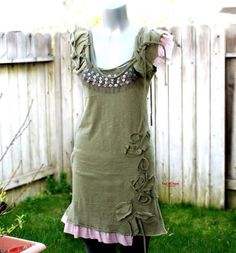 Custom order reserved for 'Smokey4ever' - cotton jersey ruffle sleeve long top (mini dress) - KD 059