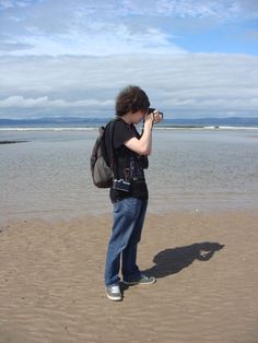 I took this photo as I waited for my 16yr old son to find his perfect photo on the beach at Nairn (Scotland). Taken on a Sony Cybershot on warm summers day. As a mum I just take quick snaps to remember happy moments, he's trying to find something else.  I'm 51 stay at home mum. I volunteer one morning a week at my local Marie Curie shop. I spend too much time on Facebook & I use a Sony Cybershot because it's idiot proof ;)   Image by Susan Reid