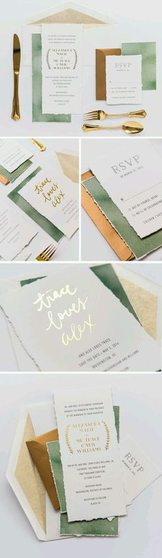 I like the green and gold combo.  I love the gold foil press