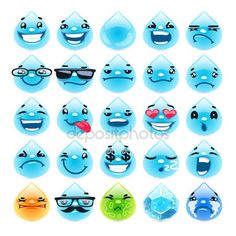 Water Drops, Rain Drops, Dew Drops, Water Drawing, Free Cartoons, Cartoon Images, Funny Faces, Facebook Sign Up, Smiley