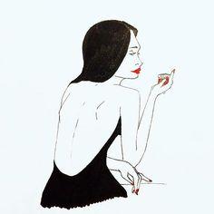 "#Repost @laura.brbln with @repostapp ・・・ ""Vas t'abreuver de mon sang menstruel"" |'Go quench your thirst with my menstrual blood' . . . . #drawingoftheday #drawing #inktober #ink #inktober2016 #illustration #blackandwhite #traditionalart #art #artistoninstagram #menstrues #mooncup #passionmenstrues #periods #menstrualcup #activismemenstruel #periodpositive #bodypositiv #feminism #french #frenchgirl #femmefatale #frenchartist #menstrualactivism @passionmenstrues"