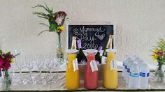 Bubbly bar/drink station (Mommy's Day )