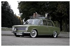 Lada 1300, green with whitewalls