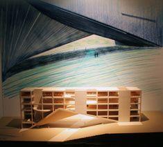 Tadao Ando - model of the University of Monterrey, RGS Center, Mexico