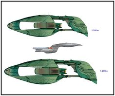 THE D'DERIDEX-CLASS WARBIRD AND THE GALAXY-CLASS STARSHIP