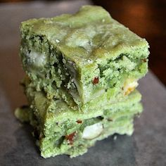 RECIPES BEST!: Green Tea White Chocolate Brownies