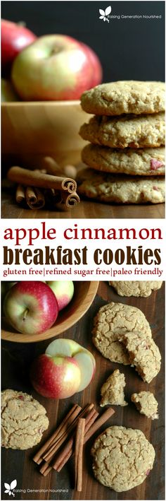 Healthy Apple Cinnamon Breakfast Cookies :: Refined Sugar Free & Gluten Free
