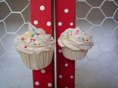 DOOR KNOBS fake cupcake set of 2 kitchen knobs drawer by shimrita