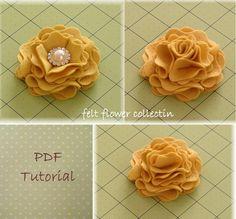Felt Flower Tutorial Fabric Flower by feltflowercollection on Etsy, $5.00