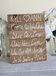 Personalized Rustic Wedding Seating Chart Sign by braggingbags, $65.00