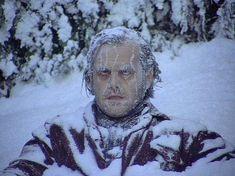 Jack Nicholson The Shining Snow Blank Meme Template