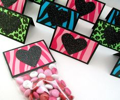Animal Print Valentine Treat Bags and Toppers