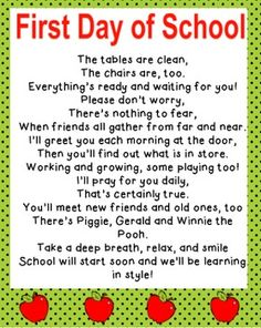 Back To School Poems For Teachers Pictures to Pin on ...