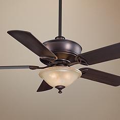 "52"" Minka Bolo Dark Brushed Bronze With Light Ceiling Fan"