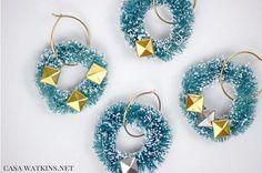 diy wreath wine glass charms, christmas decorations, crafts, seasonal holiday decor