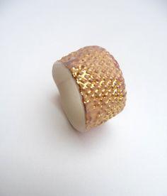 hand made porcelain ring Skin www.dellalana.com