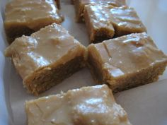 I finally found the recipe to recreate those yummy nostalgic peanut butter bars from back in my elementary school days. I didn't like most of the things served on those cafeteria trays, but t…