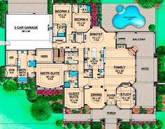 Floorplan #twostory European Style House Plans - 14814 Square Foot ...