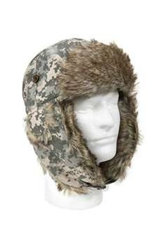 dd4574375975f ACU Digital Camouflage Fur Flyers Hat ! Buy Now at gorillasurplus.com  Flyers Hat