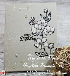 Monochromatic Watercoloring with Gouache by Stamp_a_licious - Cards and Paper Crafts at Splitcoaststampers 41st Birthday, Happy Birthday Me, Birthday Cards, Paint Brush Sizes, White Gouache, Mixed Media Cards, Card Making Tutorials, Paint Set, To Color