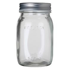 Briscoes - Ecology Conserve Preserving Jar 500ml Food Storage Containers, Ecology, Conservation, Preserves, Mason Jars, Eco Friendly, Homemade, How To Make, Preserve